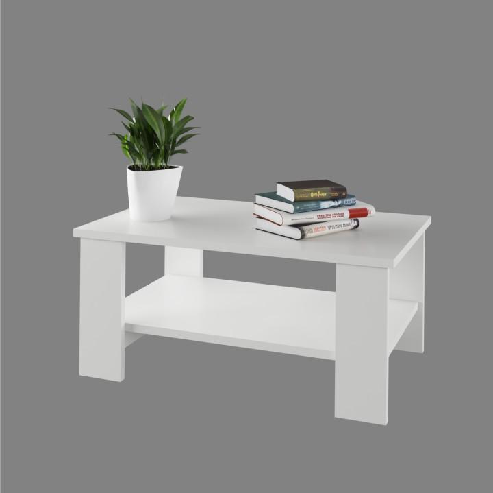 Tempo Kondela, Konferenčný stolík, BERNARDO, DTD laminovaná, biela