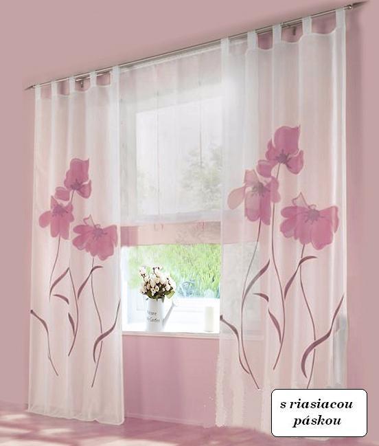 54e04ca538360 hotová záclona 150x245 ALICA ružová   LacnýEshop