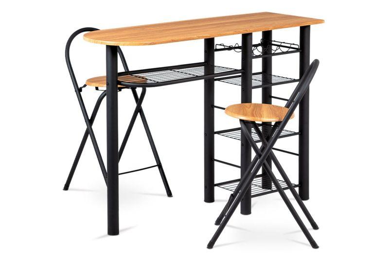 Autronic AUB-2000 OAK Barový pult + stoličky