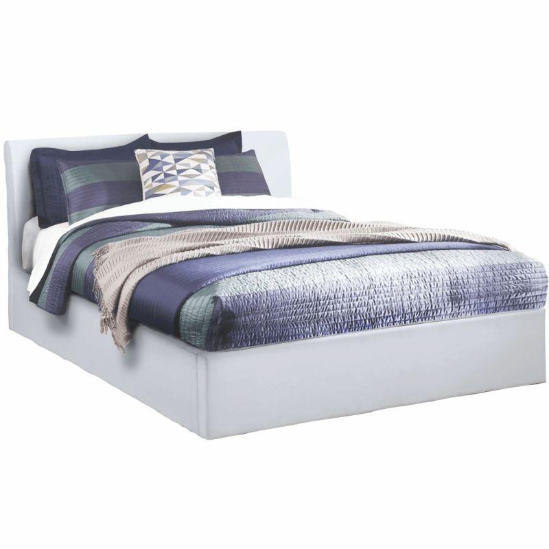 Kondela Manželská posteľ, KERALA, s úložným priestorom, biela, 160x200