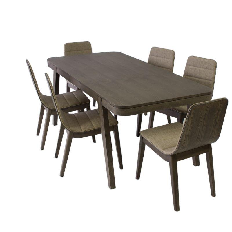d8f756e7fe0e0 Jedálenský set FREDO II, 1+6, drevený, orech empty