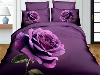 Obliečky 3D-140x200 RUŽA fialová
